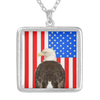 American Bald Eagle And American flag Necklaces