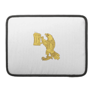 American Bald Eagle Beer Stein Drawing Sleeve For MacBooks