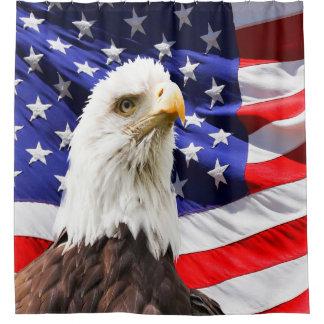 American Bald Eagle Flag Shower Curtain
