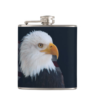 American bald eagle hip flask