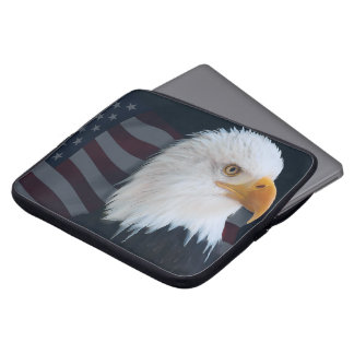American bald eagle laptop sleeve