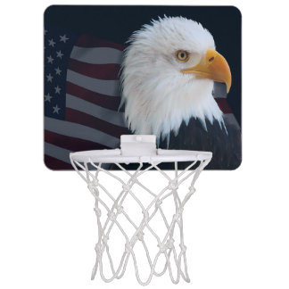 American bald eagle mini basketball hoop