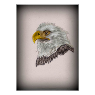 American Bald Eagle Patriotic Art Poster