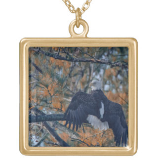 American bald eagle pendant necklace