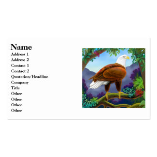 American Bald Eagle Profile Card Pack Of Standard Business Cards
