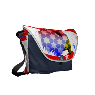 American Bald Eagle Rickshaw Bag Courier Bag