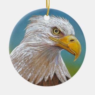 American Bald Eagle Round Ceramic Decoration