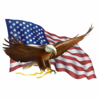 American Bald Eagle Sculpture Standing Photo Sculpture