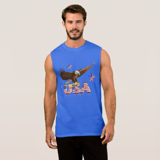 American bald eagle sleeveless shirt