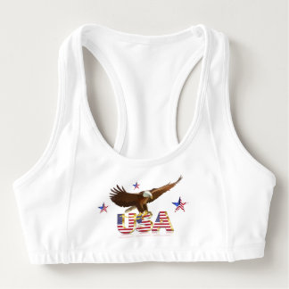 American bald eagle sports bra