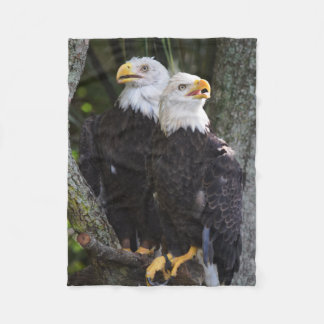 American Bald Eagle Throw Fleece Blanket
