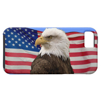 American Bald Eagle & US Flag Patriotic Phone Case