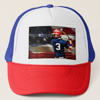 American ball trucker hat