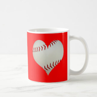American Baseball In A Heart Shape Coffee Mug