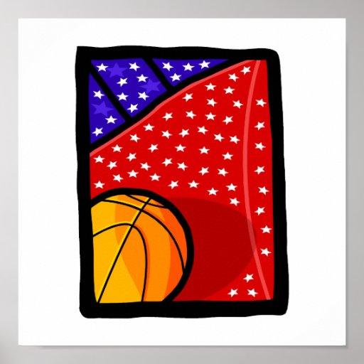 American Basketball Team Posters