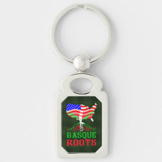 American Basque Roots Metal Keychain Keyring