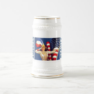 American Beauty. Retro Pin-up Design Gift Beer Mug
