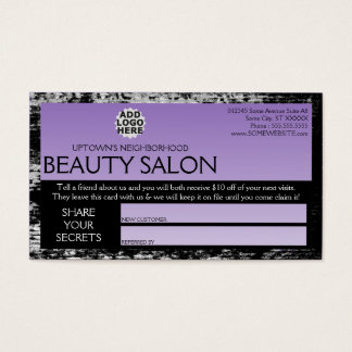american beauty secrets referral program business card