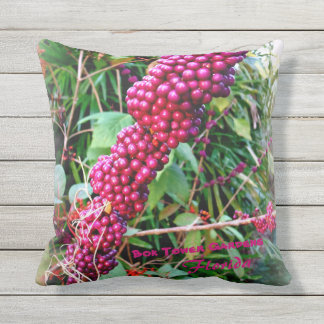 American Beautyberry at Bok Tower Gardens Florida Outdoor Cushion