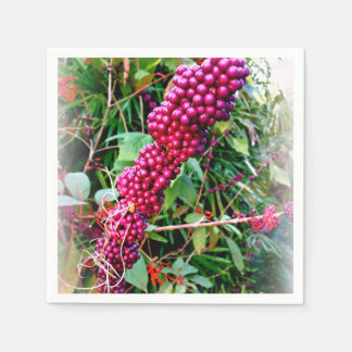 American Beautyberry at Bok Tower Gardens Florida Paper Napkin