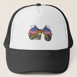 American Biker Chopper Trucker Hat