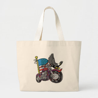 American Biker Eagle Tote Bags