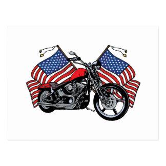 American Biker Postcard