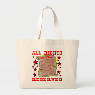 American Bill Of Rights All Rights Reserved Canvas Bag