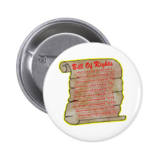 American Bill Of Rights Pinback Buttons