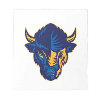 American Bison Head Retro Notepad