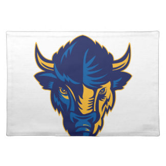 American Bison Head Retro Placemat