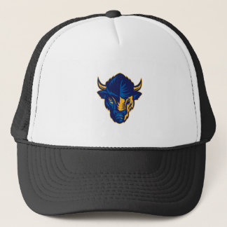 American Bison Head Retro Trucker Hat