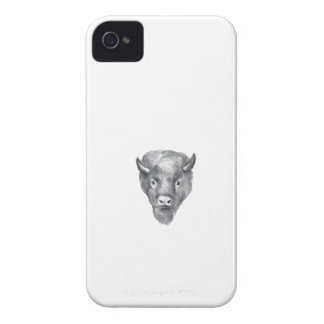 American Bison Head Watercolor iPhone 4 Case-Mate Cases