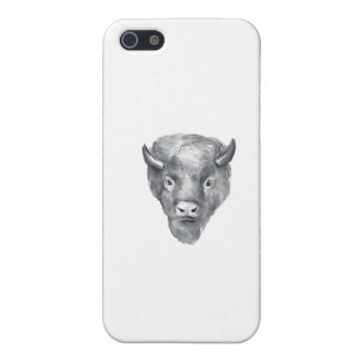 American Bison Head Watercolor iPhone 5 Case
