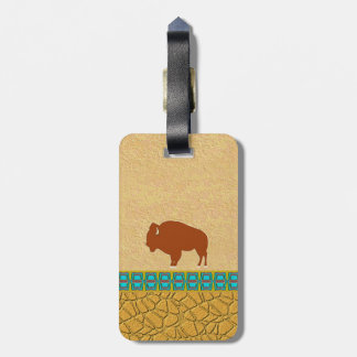 American Bison Luggage Tag