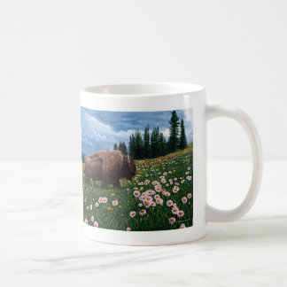 "American Bison - ""No Time For Flowers"" Coffee Mug"
