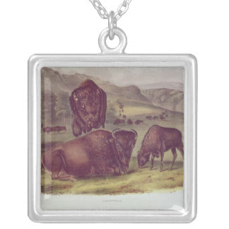 American Bison or Buffalo Silver Plated Necklace