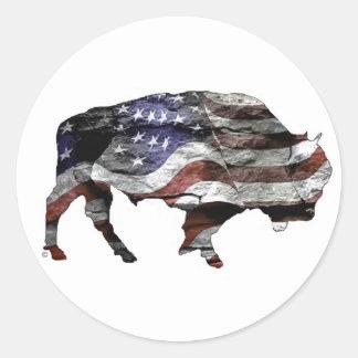 American Bison Round Sticker