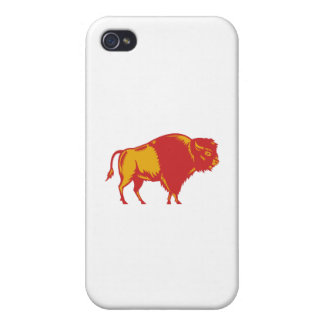 American Bison Side Woodcut iPhone 4/4S Covers