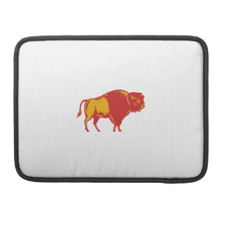 American Bison Side Woodcut Sleeve For MacBook Pro