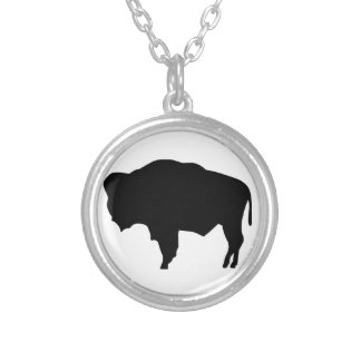 American Bison Silver Plated Necklace