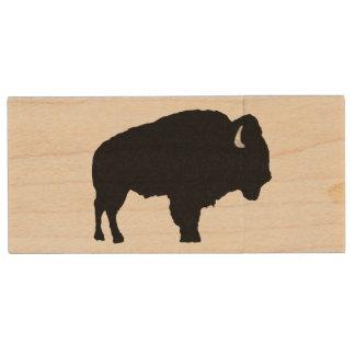 American Bison Wood USB Flash Drive