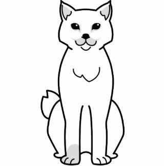 American Bobtail Cat Cartoon Cut Out