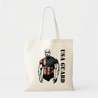 american bodybuilders usa guard budget tote bag