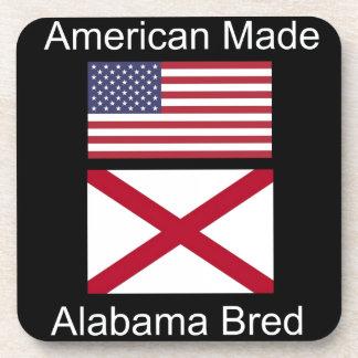 """American Born..Alabama Bred"" Flags and Patriotism Coaster"