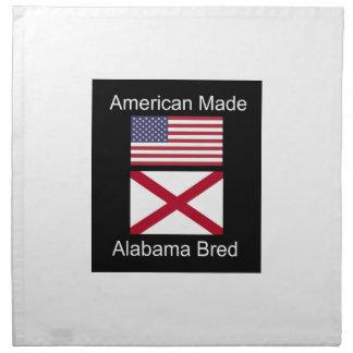 """American Born..Alabama Bred"" Flags and Patriotism Napkin"