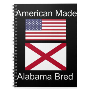 """American Born..Alabama Bred"" Flags and Patriotism Notebooks"