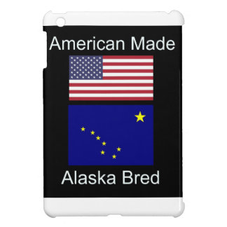 """""""American Born..Alaska Bred"""" Flags and Patriotism Case For The iPad Mini"""