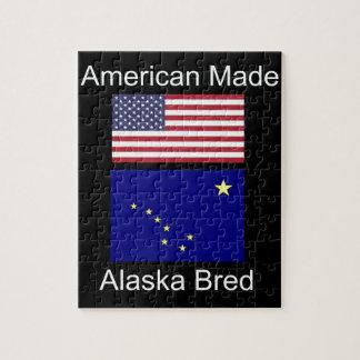 """American Born..Alaska Bred"" Flags and Patriotism Puzzle"