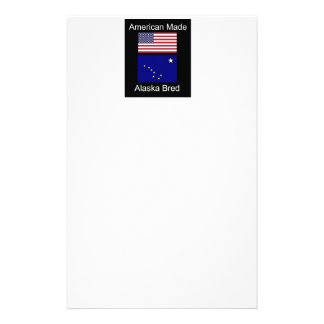 """American Born..Alaska Bred"" Flags and Patriotism Stationery"